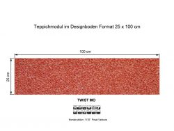 GIRLOON Teppichmodule TWIST MO 715 selbsthaftend