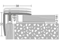Vorschau: Prinz Treppenkantenprofil 422 Edelstahl matt Maße