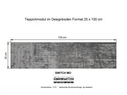 GIRLOON Teppichmodule SWITCH MO 014-520 selbsthaftend
