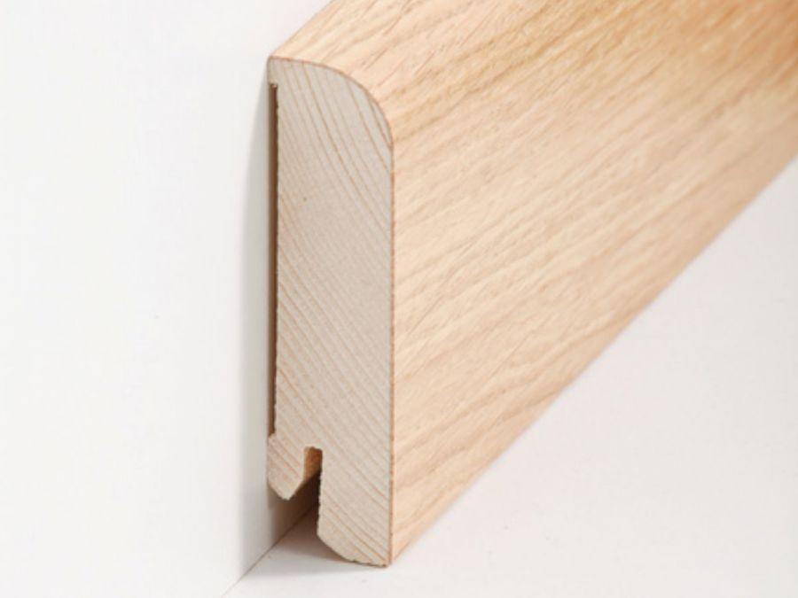 Holz Sockelleiste Rund Eiche 20 x 80 mm