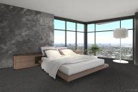 Vorschau: TFD Floortile Klebevinyl Woven L+ Herringbone 505 Schlafzimmer