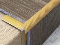 Treppenkantenprofil 134 Gold für Vinyl 3 mm