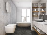 Vorschau: TFD Floortile Klebevinyl Ossi 6 Badezimmer