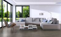 Vorschau: TFD Floortile Klebevinyl Woven L+ Herringbone 503 Wohnzimmer