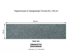 GIRLOON Teppichmodule TWIST MO 535 selbsthaftend