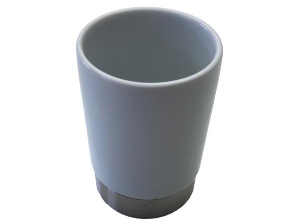 Zahnputzbecher Ariano weiß Keramik
