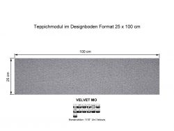 GIRLOON Teppichmodule VELVET MO 501 selbsthaftend