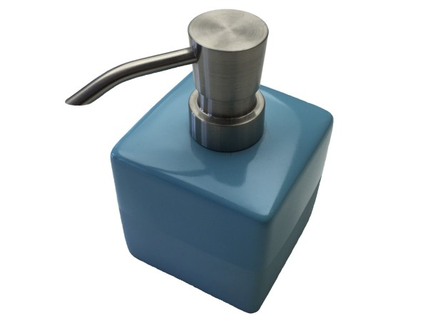 Seifenspender Paintbox blau 12 cm