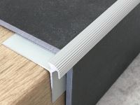 Treppenkantenprofil 134 Silber für Vinyl 3 mm