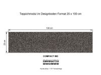 Infloor Teppichfliesen Compact Mo 753 selbsthaftend