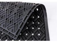 Vorschau: Gummimatte Dynamic Rillen schwarz Detailansicht