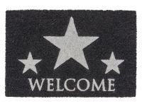 Vorschau: Kokosmatte Coco Glitter Welcome Sterne silber