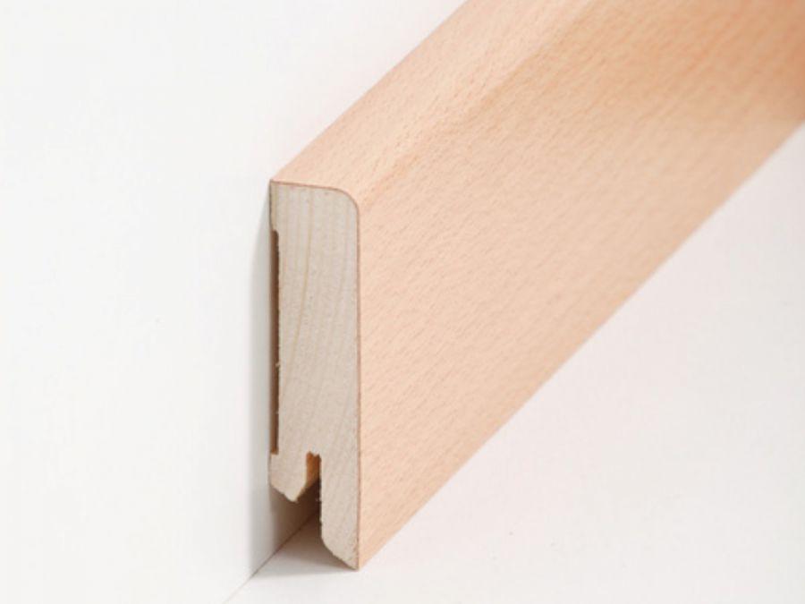 Holz Sockelleiste Buche 16 x 60 x 2500 mm
