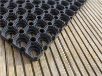 Vorschau: Gummimatte Quadro schwarz Detailansicht