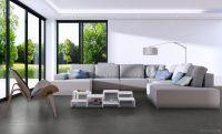 Vorschau: TFD Floortile Klebevinyl Woven L+ Herringbone 505 Wohnzimmer