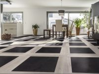 Aufregendes Bodenmuster mit dem JAZZ 1000 Klick Designboden gestaltet