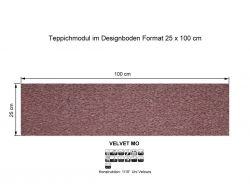 GIRLOON Teppichmodule VELVET MO 121 selbsthaftend