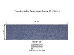 GIRLOON Teppichmodule VELVET MO 311 selbsthaftend