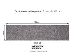 GIRLOON Teppichmodule WAVE MO 541 selbsthaftend