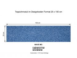 GIRLOON Teppichmodule WAVE MO 321 selbsthaftend