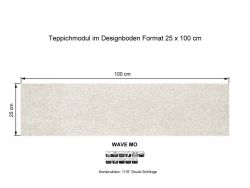 GIRLOON Teppichmodule WAVE MO 850 selbsthaftend