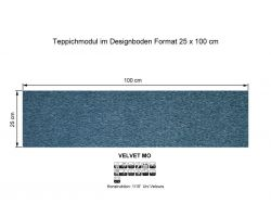 GIRLOON Teppichmodule VELVET MO 441 selbsthaftend