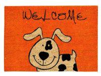 Kokosmatte Coco Style Welcome Hund