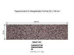 GIRLOON Teppichmodule SMART MO 861 selbsthaftend