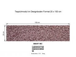 GIRLOON Teppichmodule SMART MO 121 selbsthaftend