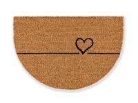 Kokosmatte Coco Smart halbrund Herz Linie