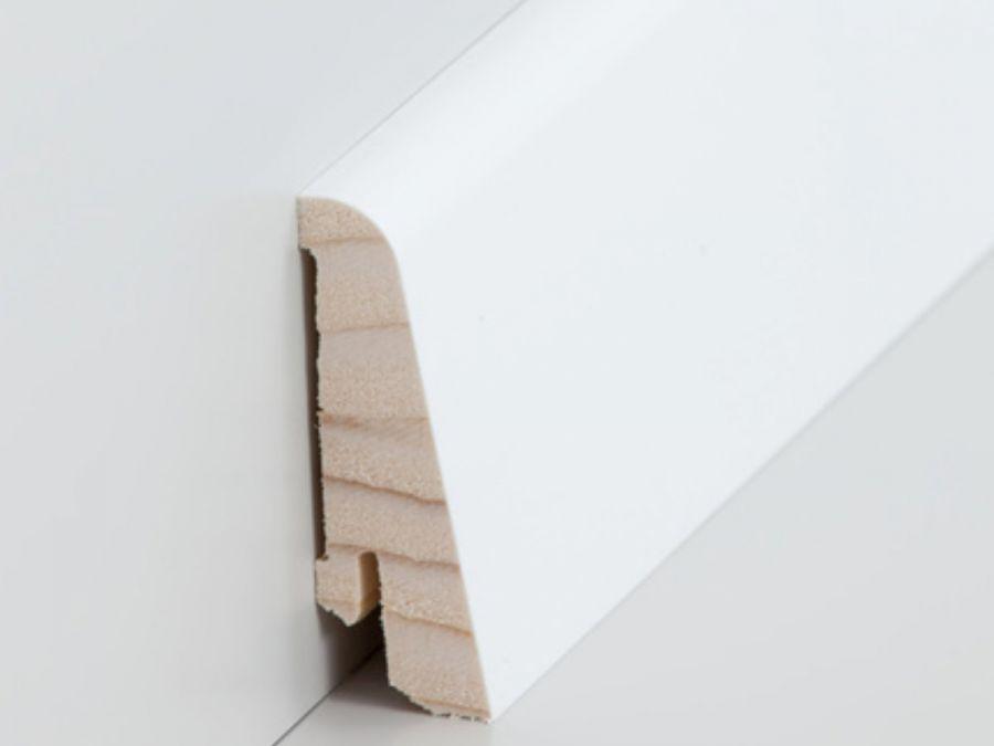 Holz Sockelleiste Modern 20 x 58 mm weiß lackiert