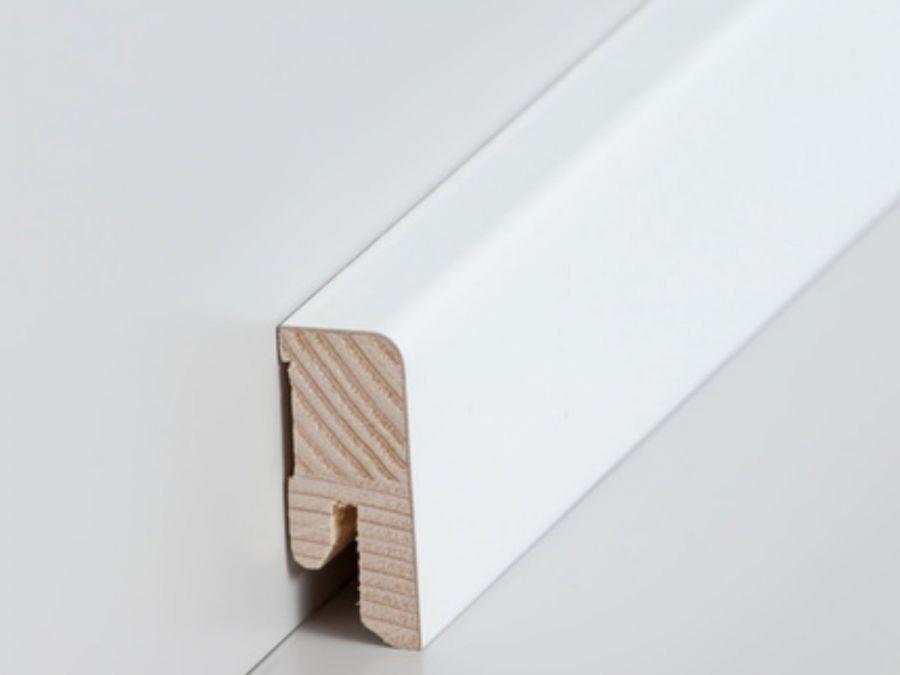 Holz Sockelleiste Cube 16 x 40 mm weiß lackiert
