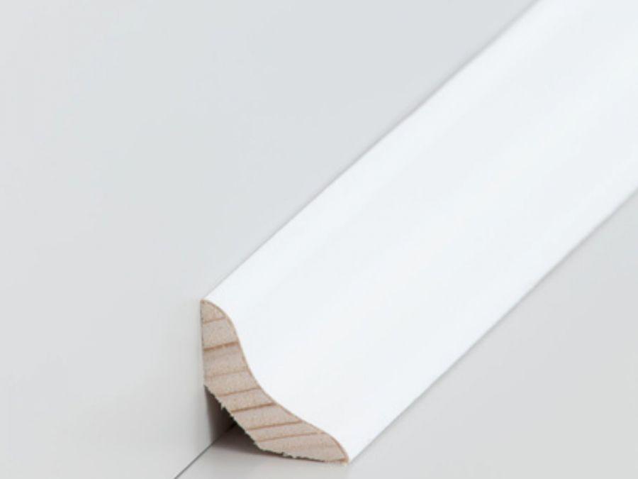 Echtholz Hohlkehlleiste 26 x 26 mm Esche weiß
