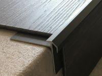 Vorschau: Aluminium Treppenkantenprofil 491 bronze dunkel