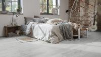 Tarkett Klebevinyl ID Inspiration 30 CLASSICS Scandinavian Oak Medium Grey Schlafzimmer