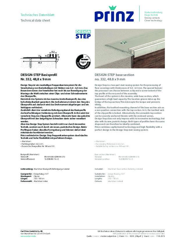 DESIGN-STEP Datenblatt 332 PDF