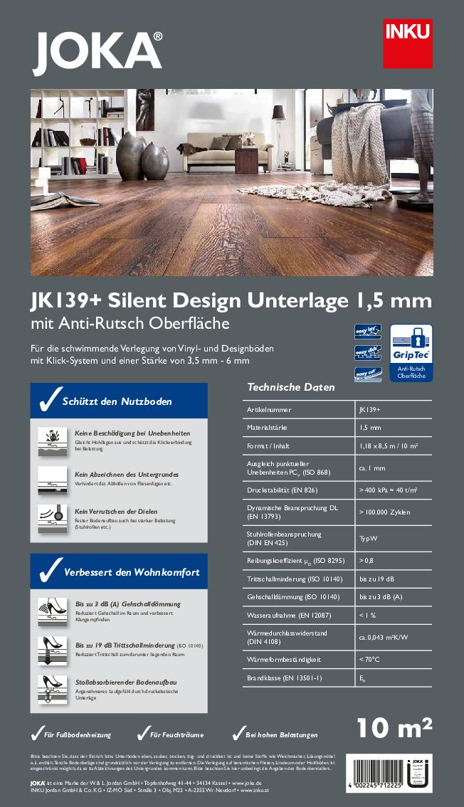 Technische Daten JK 139+ PDF 963 KB