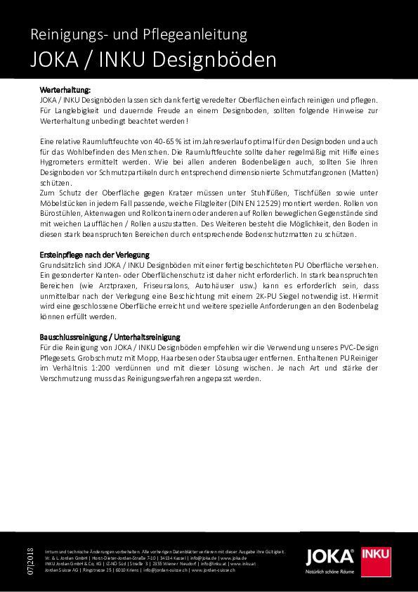 Pflegeanleitung PDF