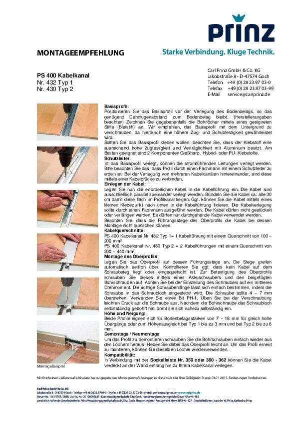 Montageempfehlung PDF 97,1 KB