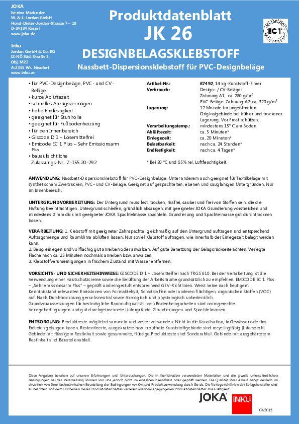 Produktdatenblatt JK 26 PDF 125 KB