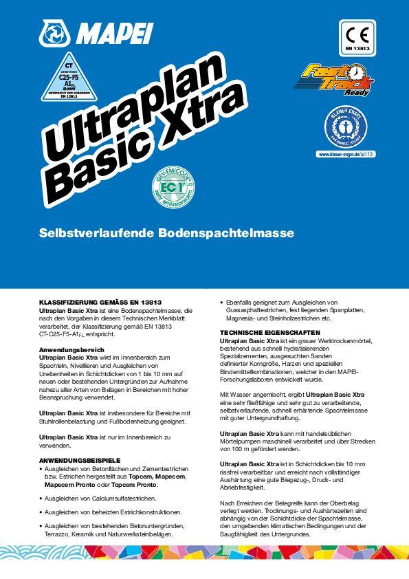 Mapei Ultraplan Xtra Basic Datenblatt