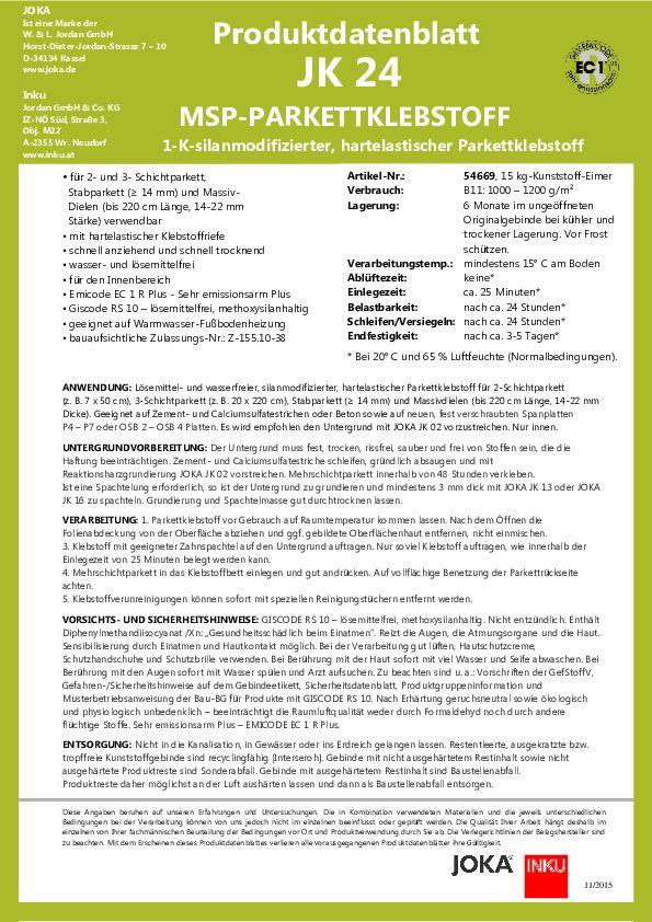 JOKA JK 24 Datenblatt