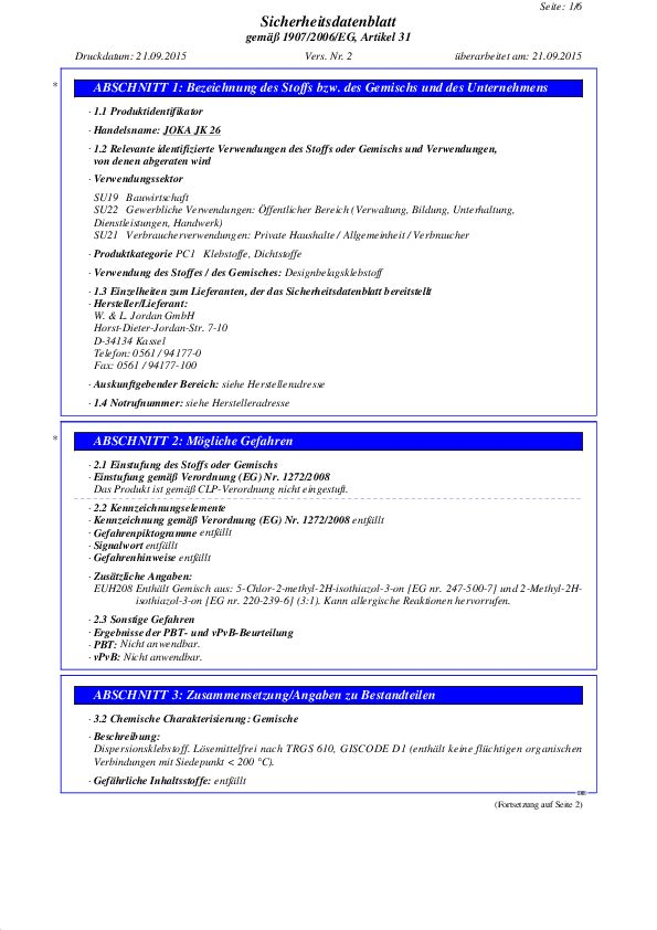 Sicherheitsdatenblatt JK 26 PDF 70,2 KB