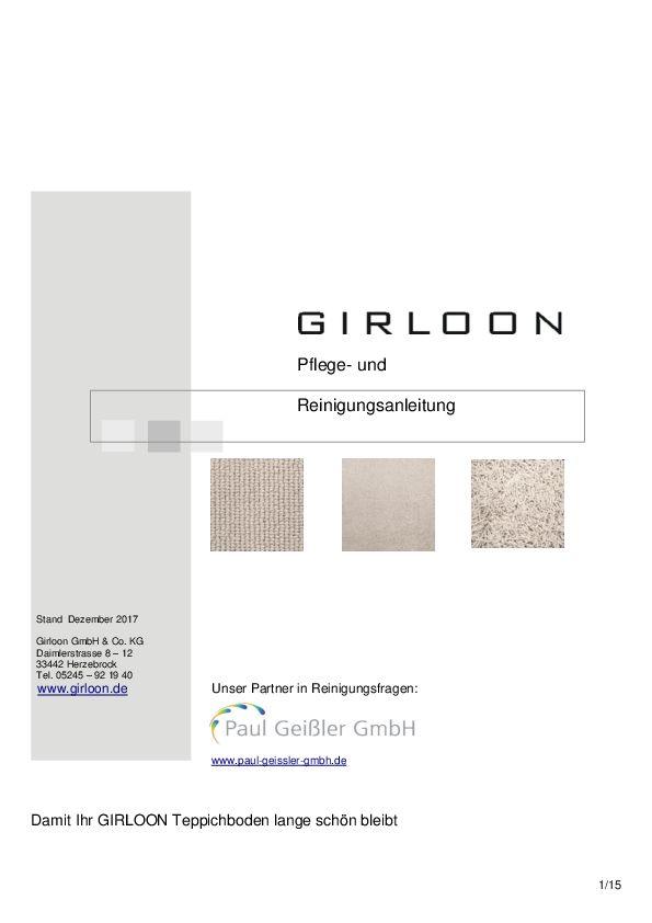 Teppichboden Pflegeanleitung PDF