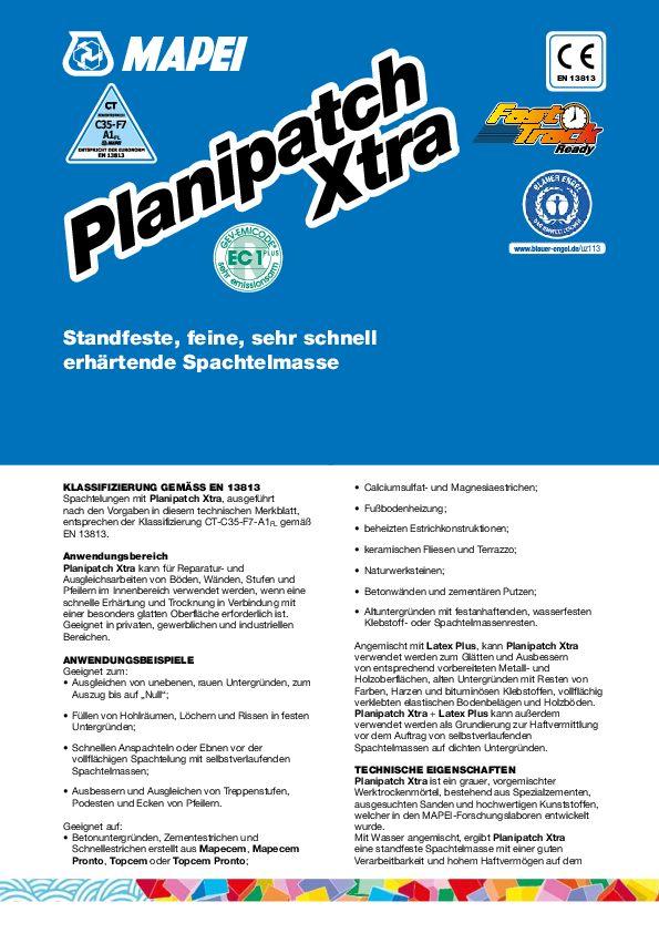 Mapei Planipatch Xtra Datenblatt
