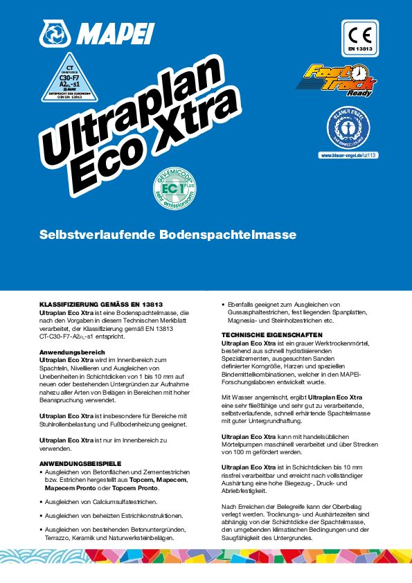 Mapei Ultraplan Xtra Eco Datenblatt