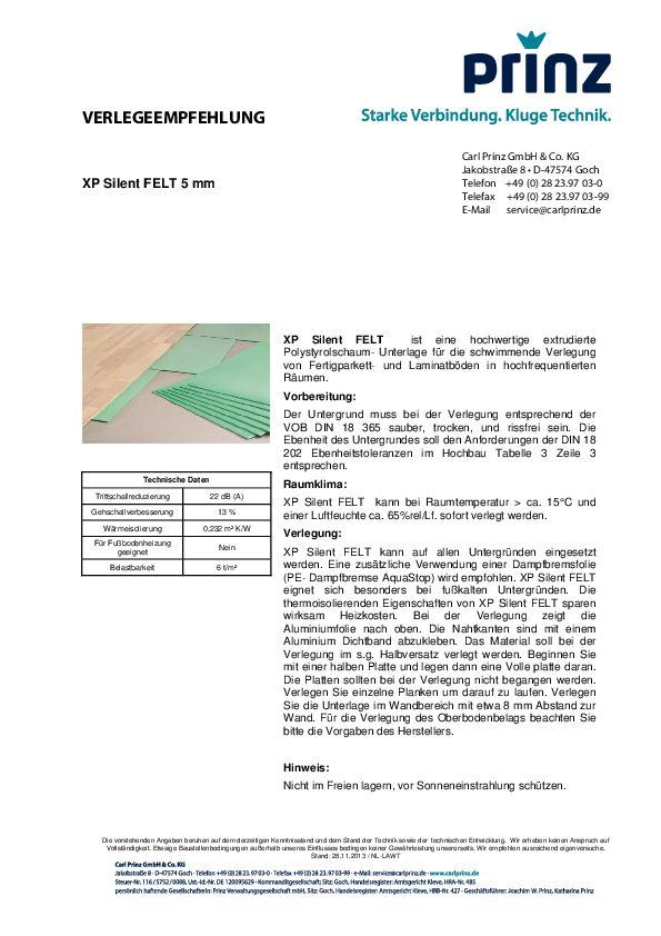 Verlegeempfehlung PDF 91 KB