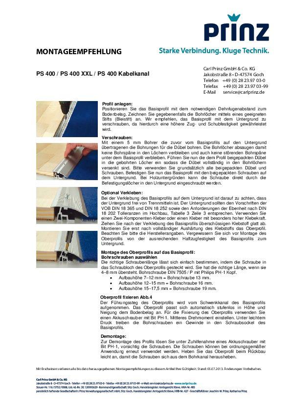 Montageempfehlung PDF