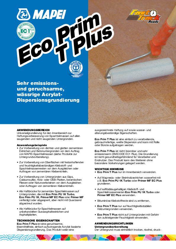 Mapei Eco Prim T Plus Datenblatt