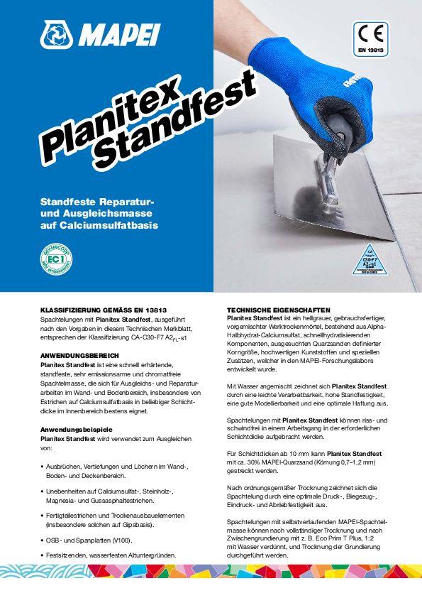 Mapei Planitex Standfest Datenblatt